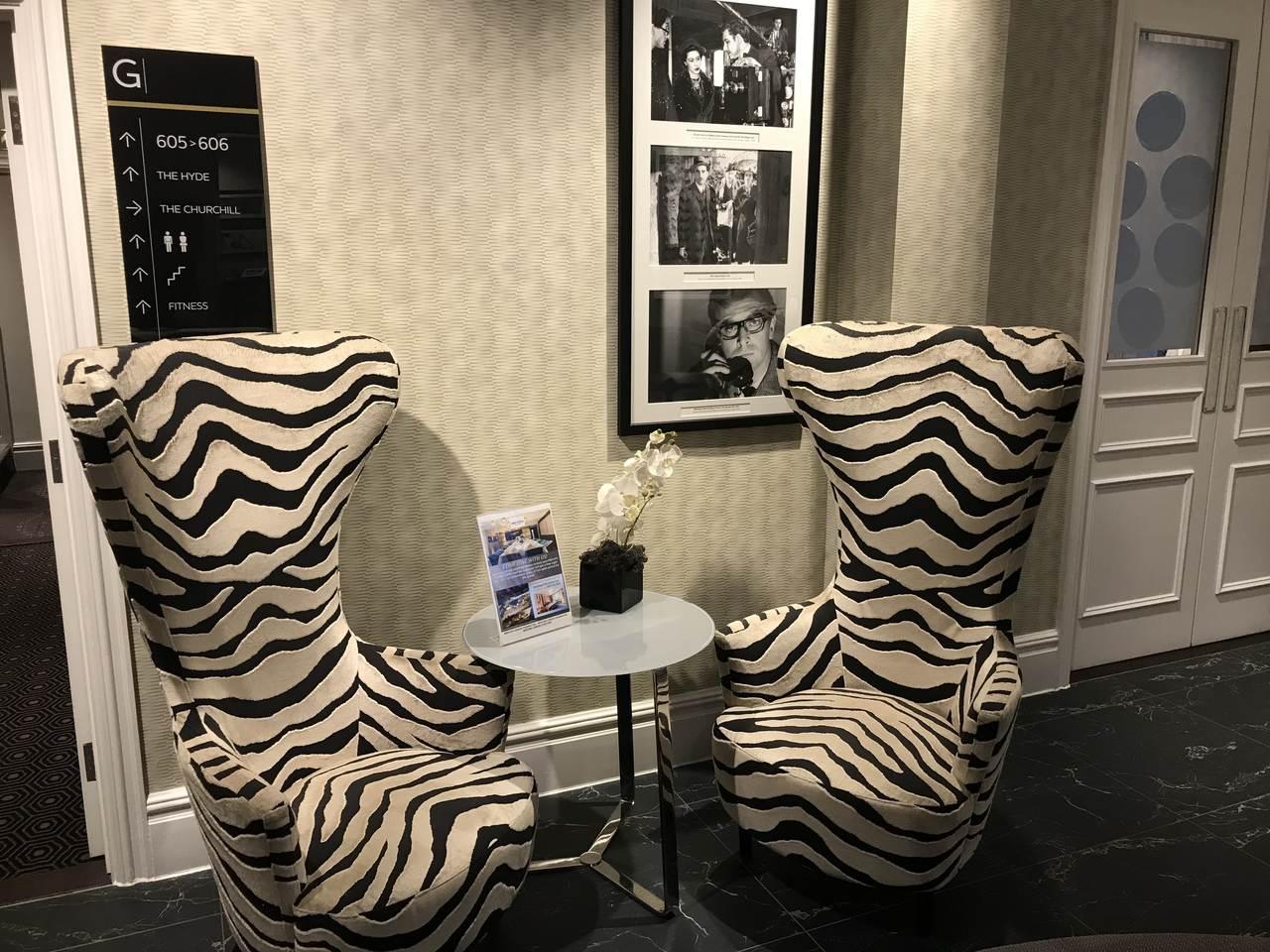 Mercure Hotel Zebra print chairs