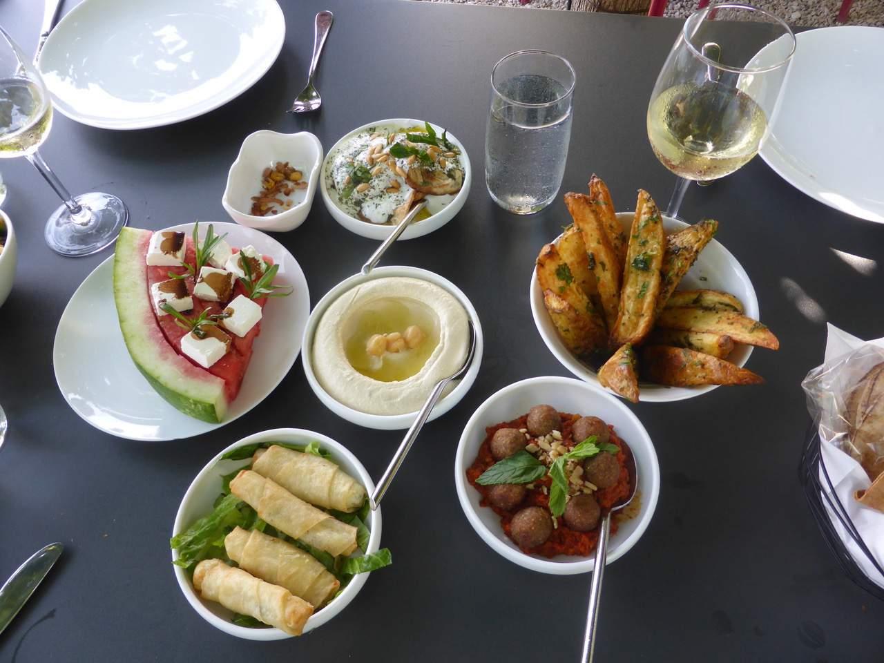 Mezze at Ixsir Winery, Beirut