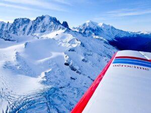 Flight over Mont Blanc