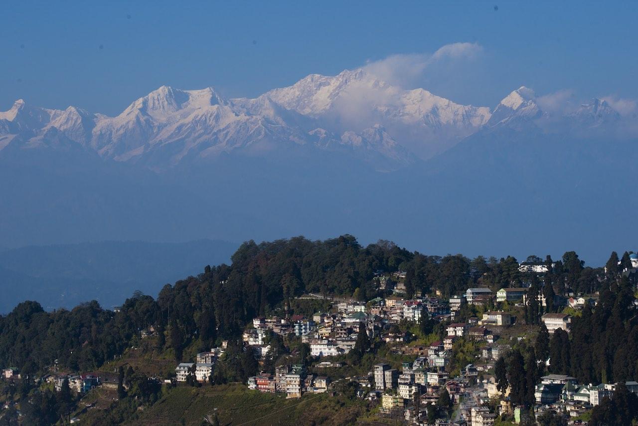 Mount Kanchenjunga - Darjeeling town