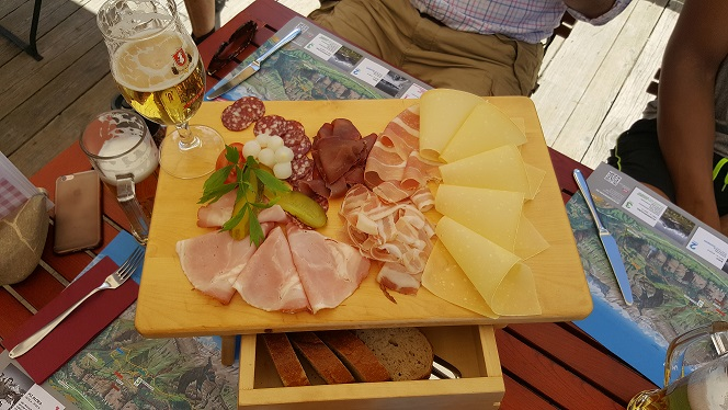 Murren Thrill Walk food plate