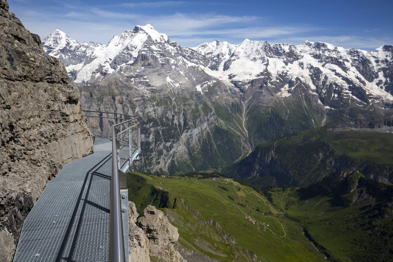 Murren Thrill Walk - walkway