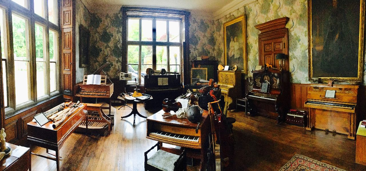 Music room at Holdenby, Northamptonshire