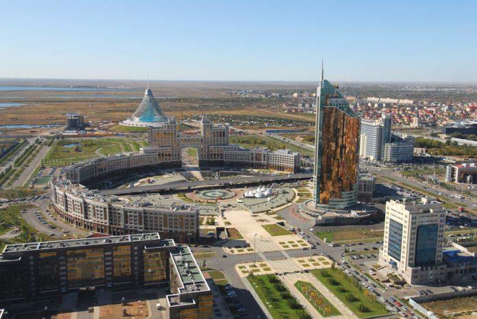 New construction in downtown Astana, Kazakhstan
