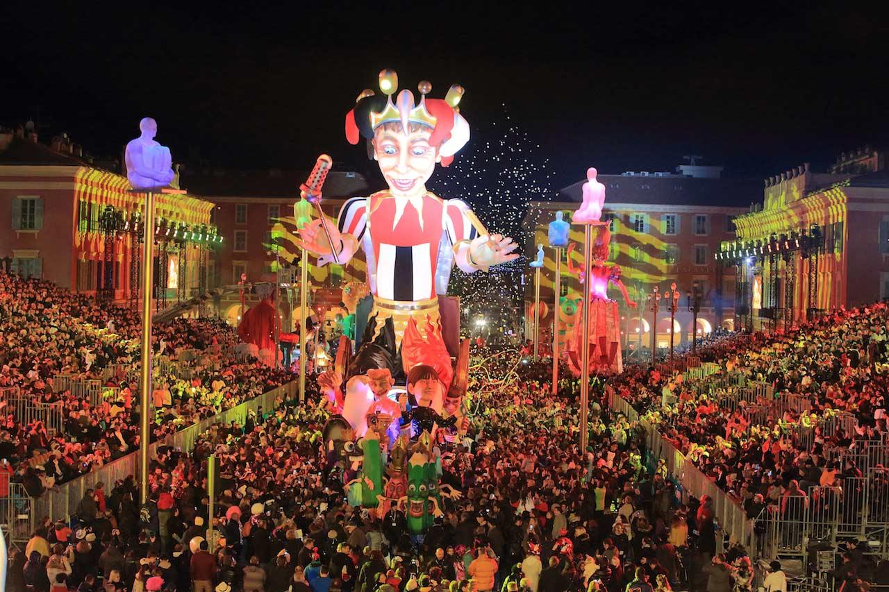 Nice Carnival 2016 by night