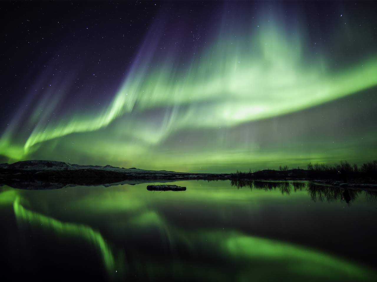 Northern Lights in Thingvellir National Park