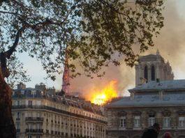 Notre-Dame-de-Paris on fire