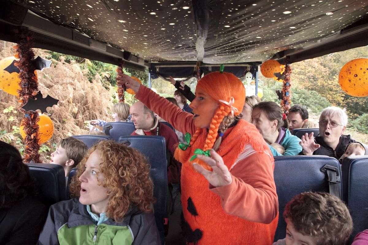 On board the Fright Flight Half Term Halloween Hoot, Chatsworth