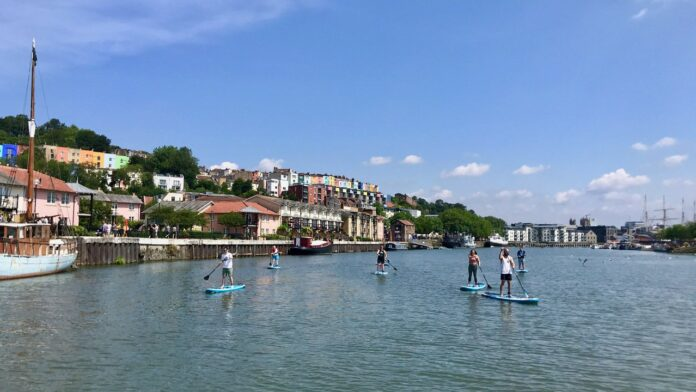 Paddle Boarding along the Harbour with SUP Bristol