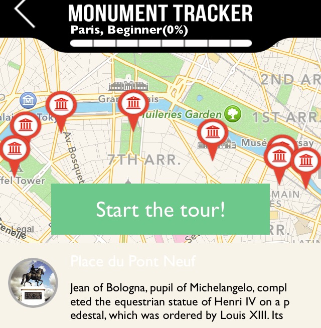 Monument Tracker: Paris along the Seine
