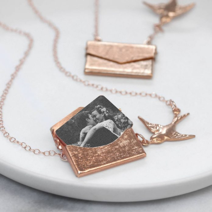 Personalised Photo Love Letter Necklace