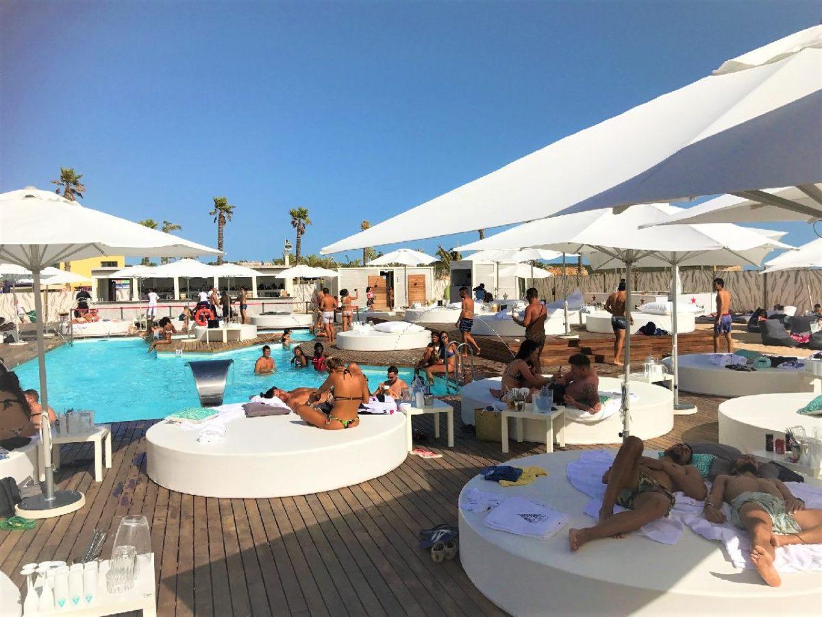 Pool side scene at Blanco Beach Club, Algarve, Portgual