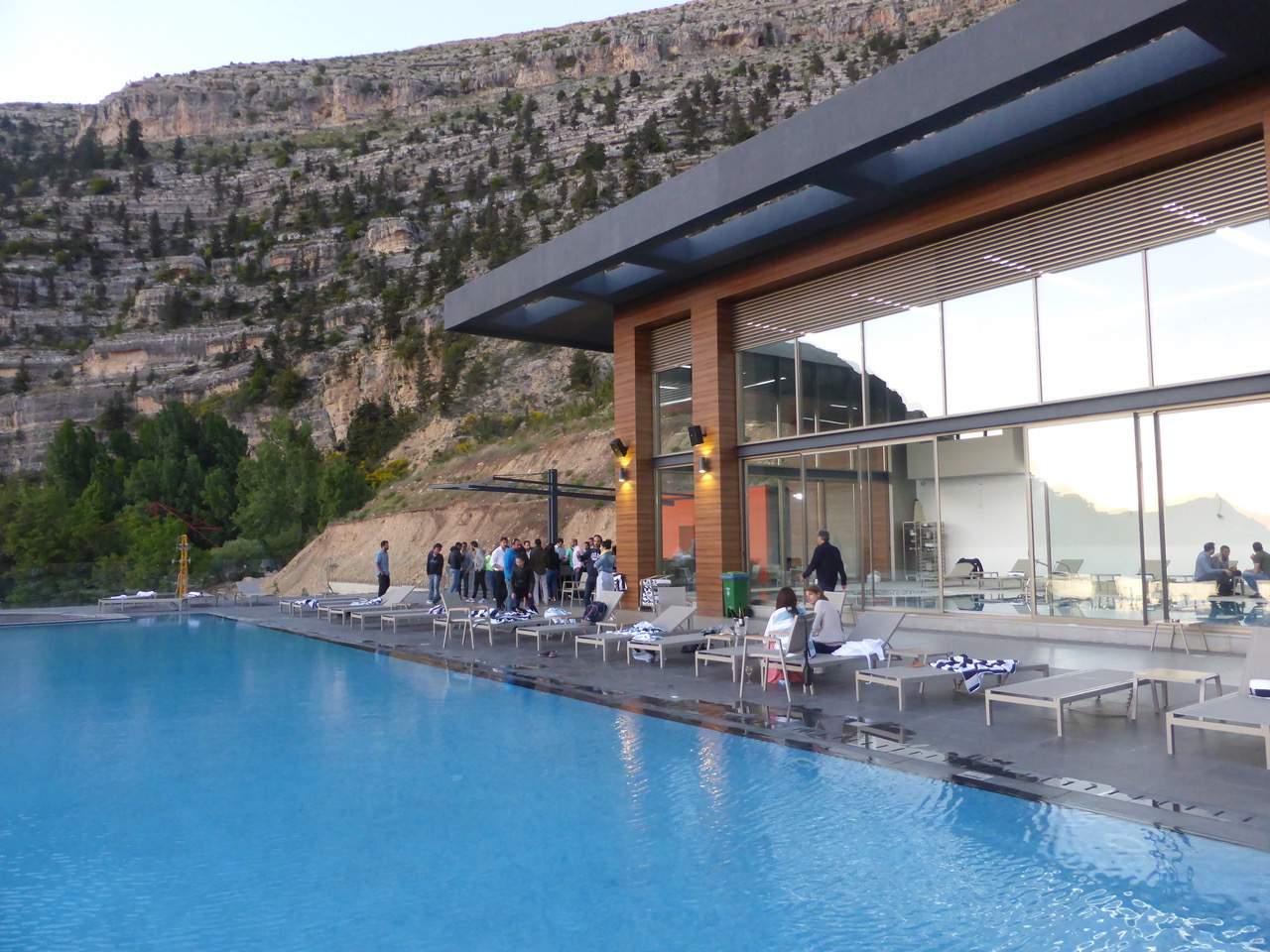Pool at Mist Hotel, Ehden, Beirut