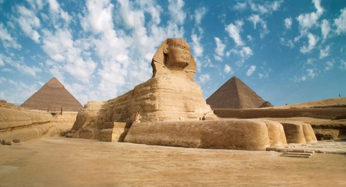 Pyramids of Giza and the Great Sphinx