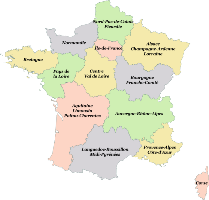 Map Of France New Regions.French Regions Will Change Forever In 2016