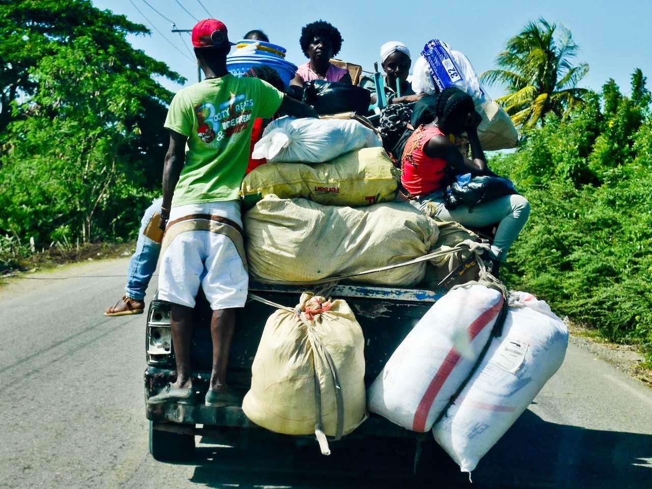 Haitians Returning from Market