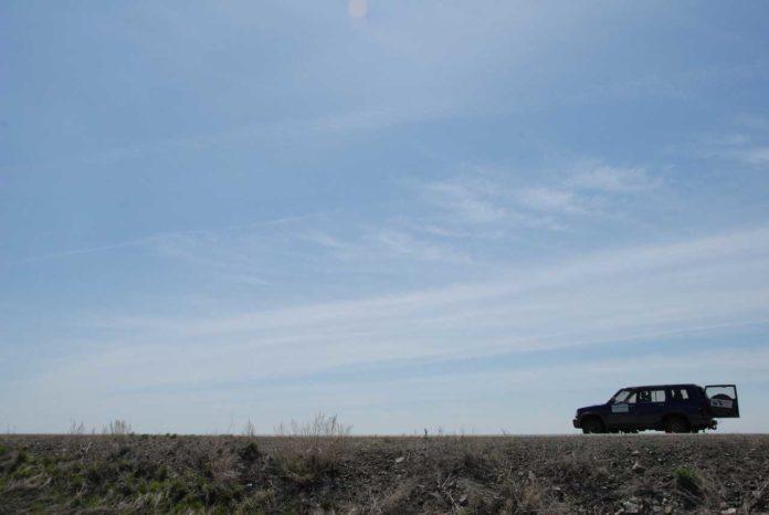 Road trip on the Kazakh Steppe, Kazakhstan
