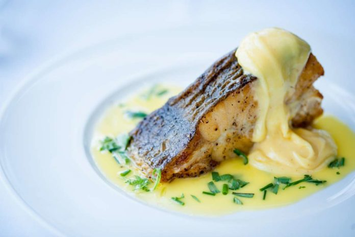 Roast troncon of turbot with hollandaise at The Seafood Restaurant