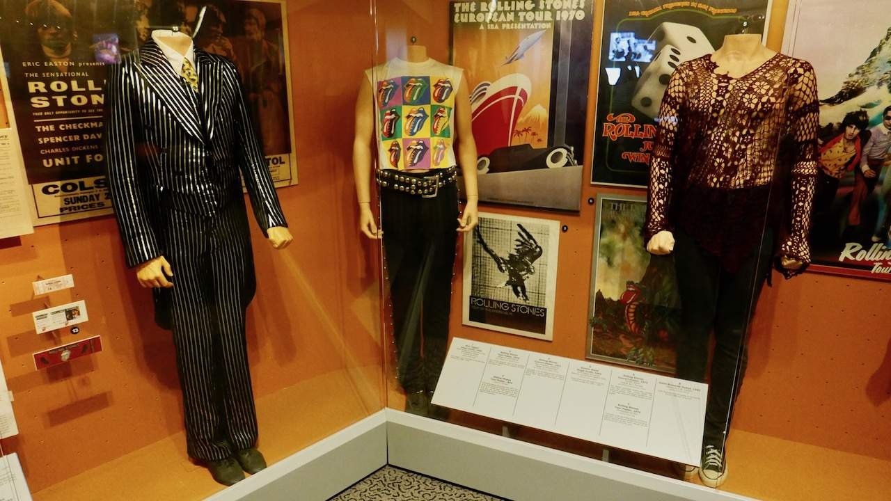 Rolling Stones memorabilia in the Rock & Roll Hall of Fame