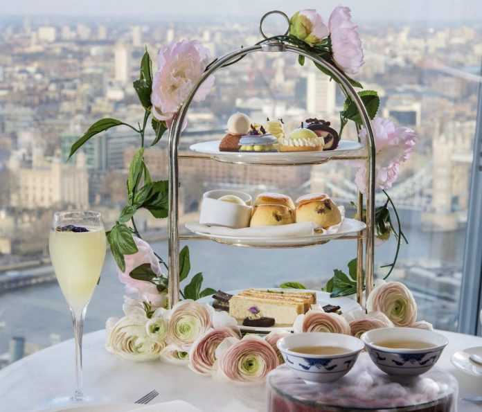 Royal Botanical Afternoon Tea at Shangri-La Hotel, At The Shard, London