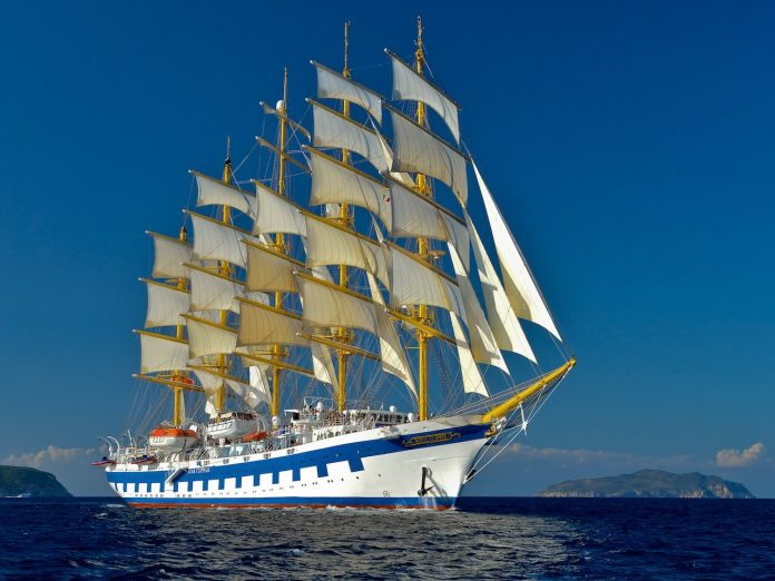 Royal Clipper with Sails
