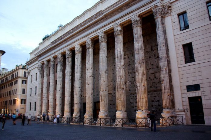 Ruins of the Temple of Hadrian Rome