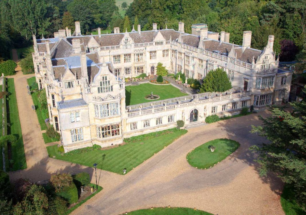 Rushton Hall Birdseye view, Northamptonshire
