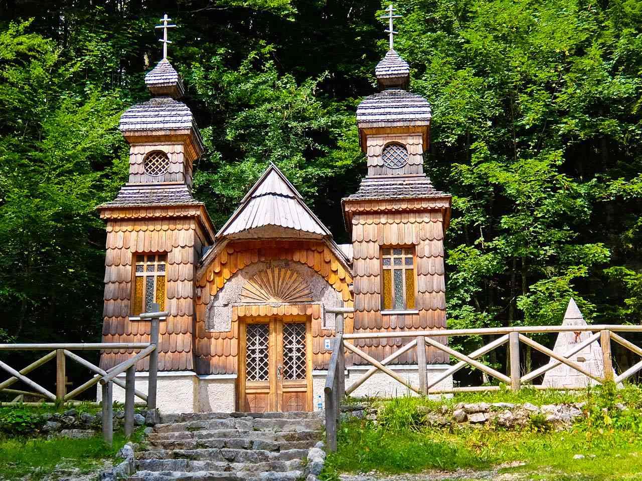 Russian Chapel, Vršič Pass, Slovenia