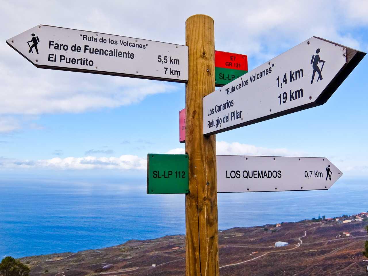 Ruta de los Volcanes Sign