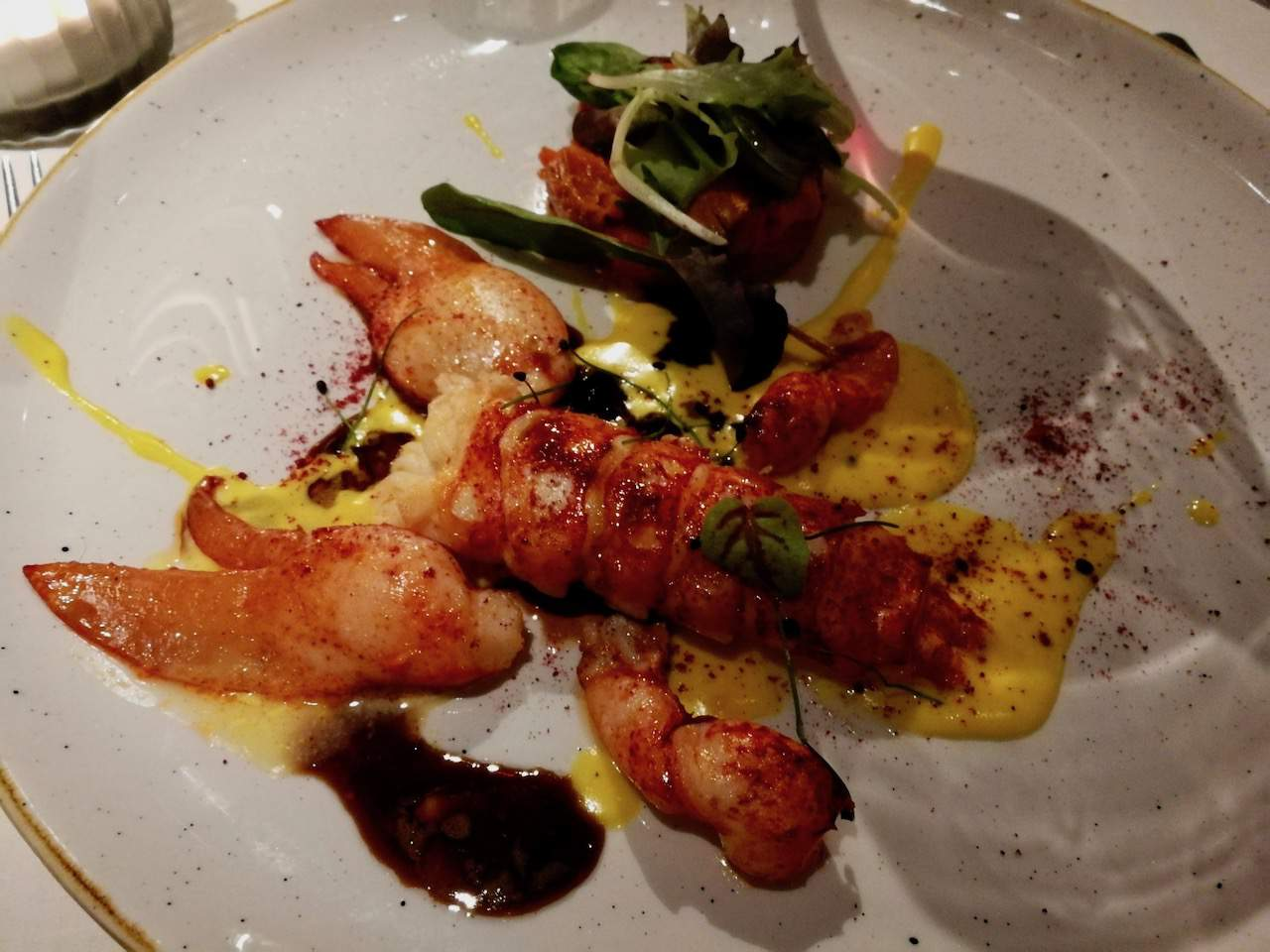 Saffron lobster at the Kulm Country Club