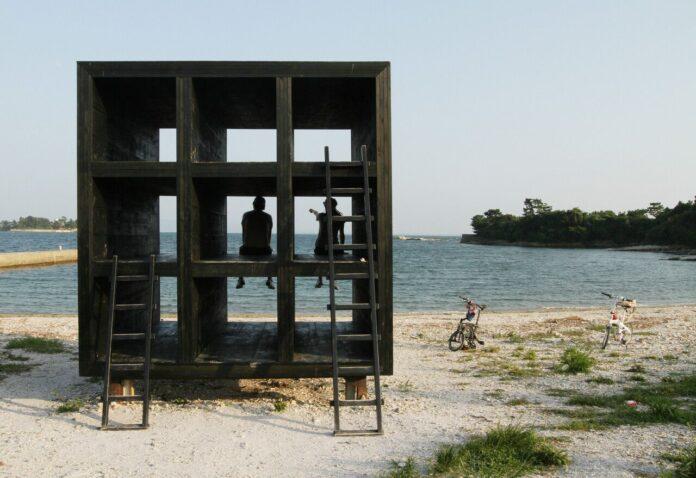One of the art installations at Sakushima