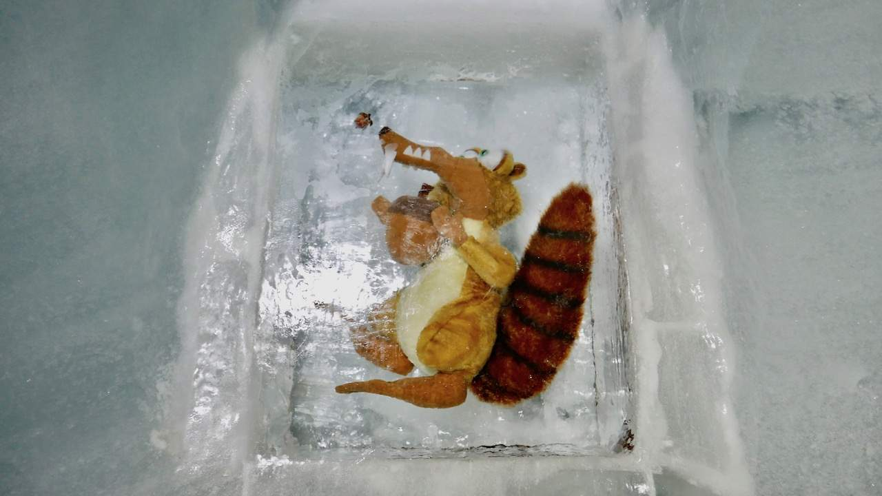 Spotting Scrat in the Ice Palace at Jungfraujoch