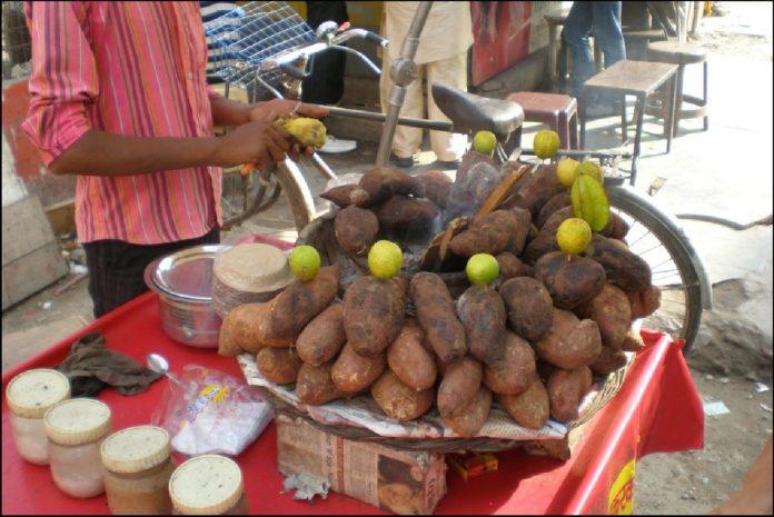 Shakarkandi Chaat - street food of Northern India