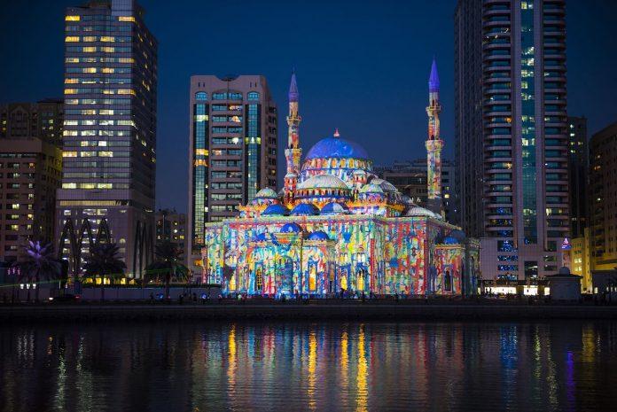 Sharjah Light Festival - Masjid Al Noor