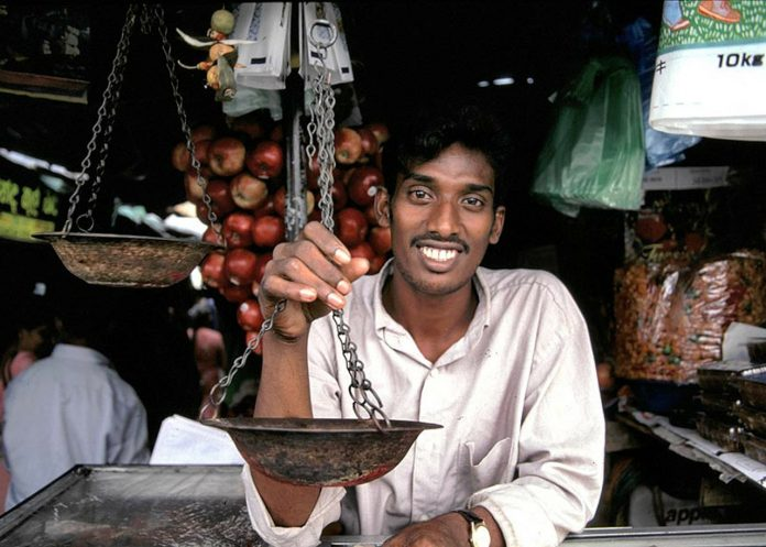 Shopkeeper in Sri Lanka