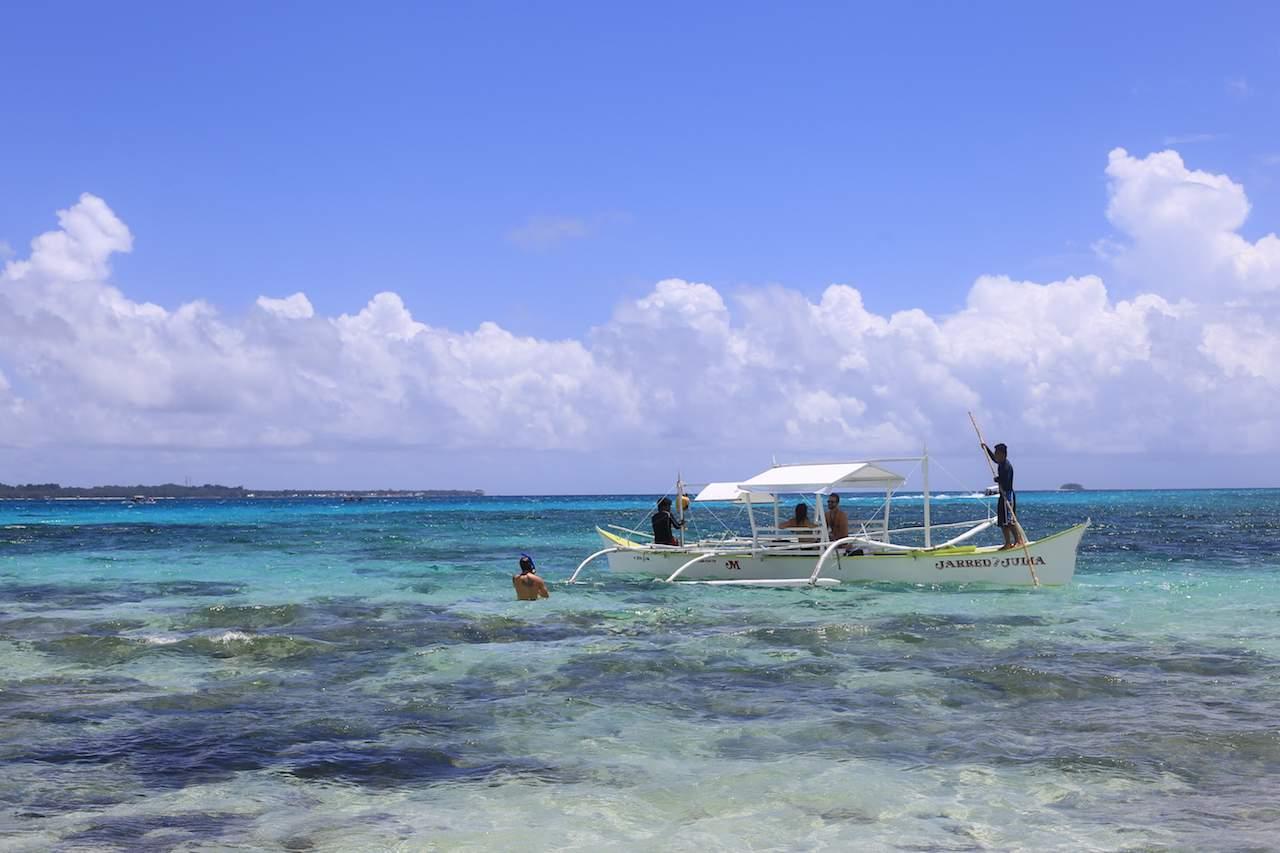 Siargao boat in lagoon