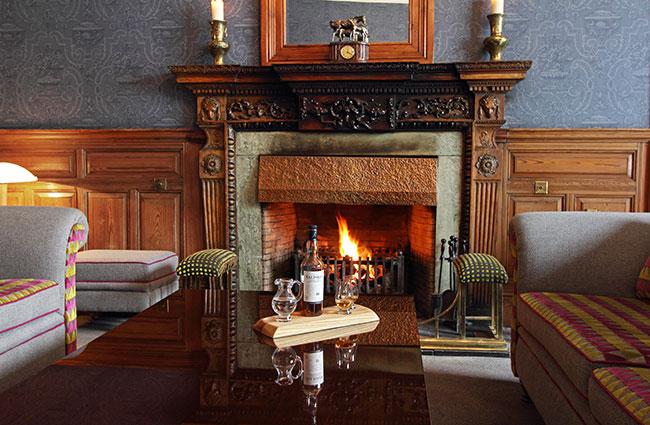 Skeabost Hotel fireplace