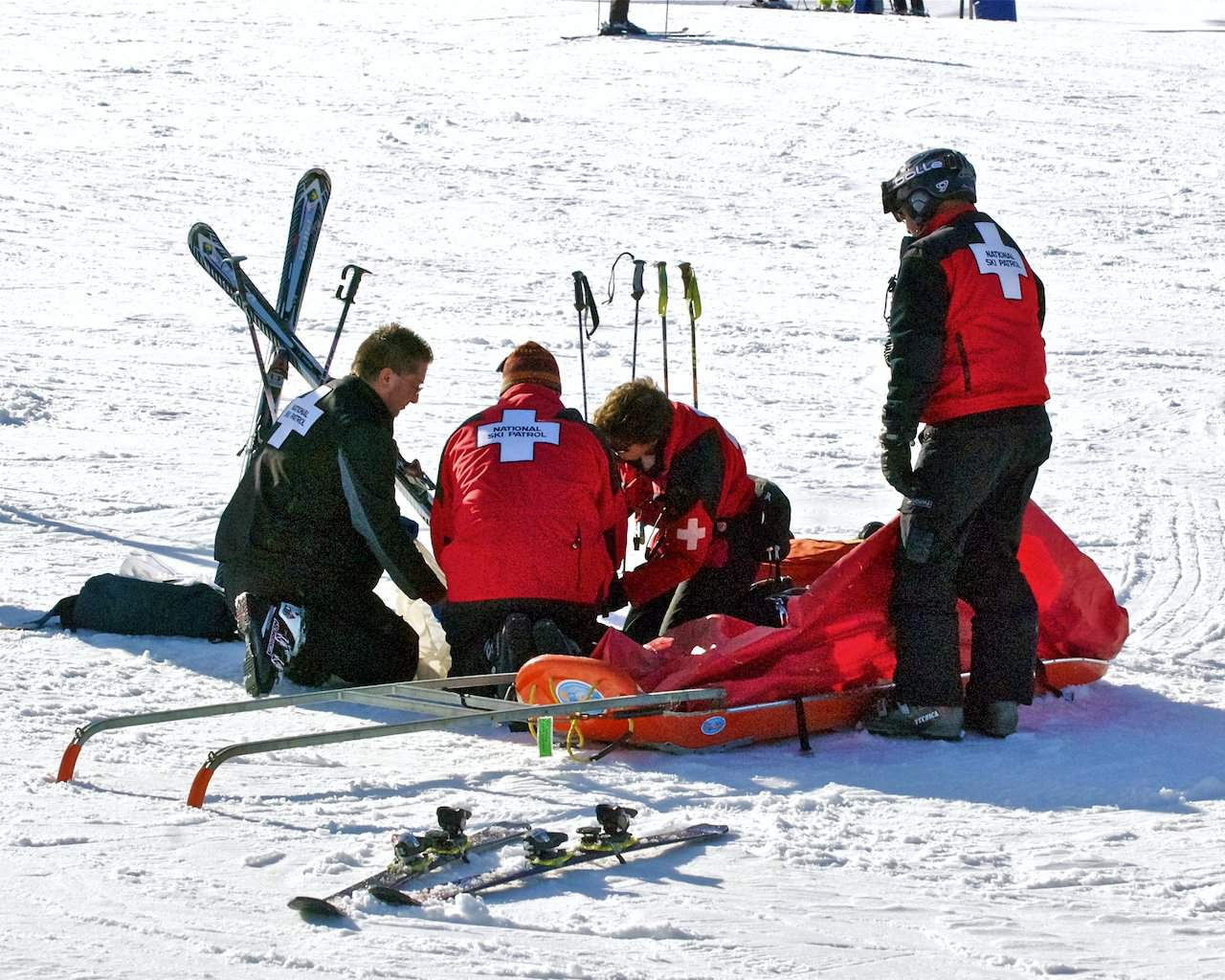 Accident on the slopes