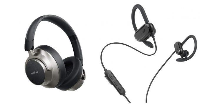 SoundCore NC headphones and Spirit X wireless earphones