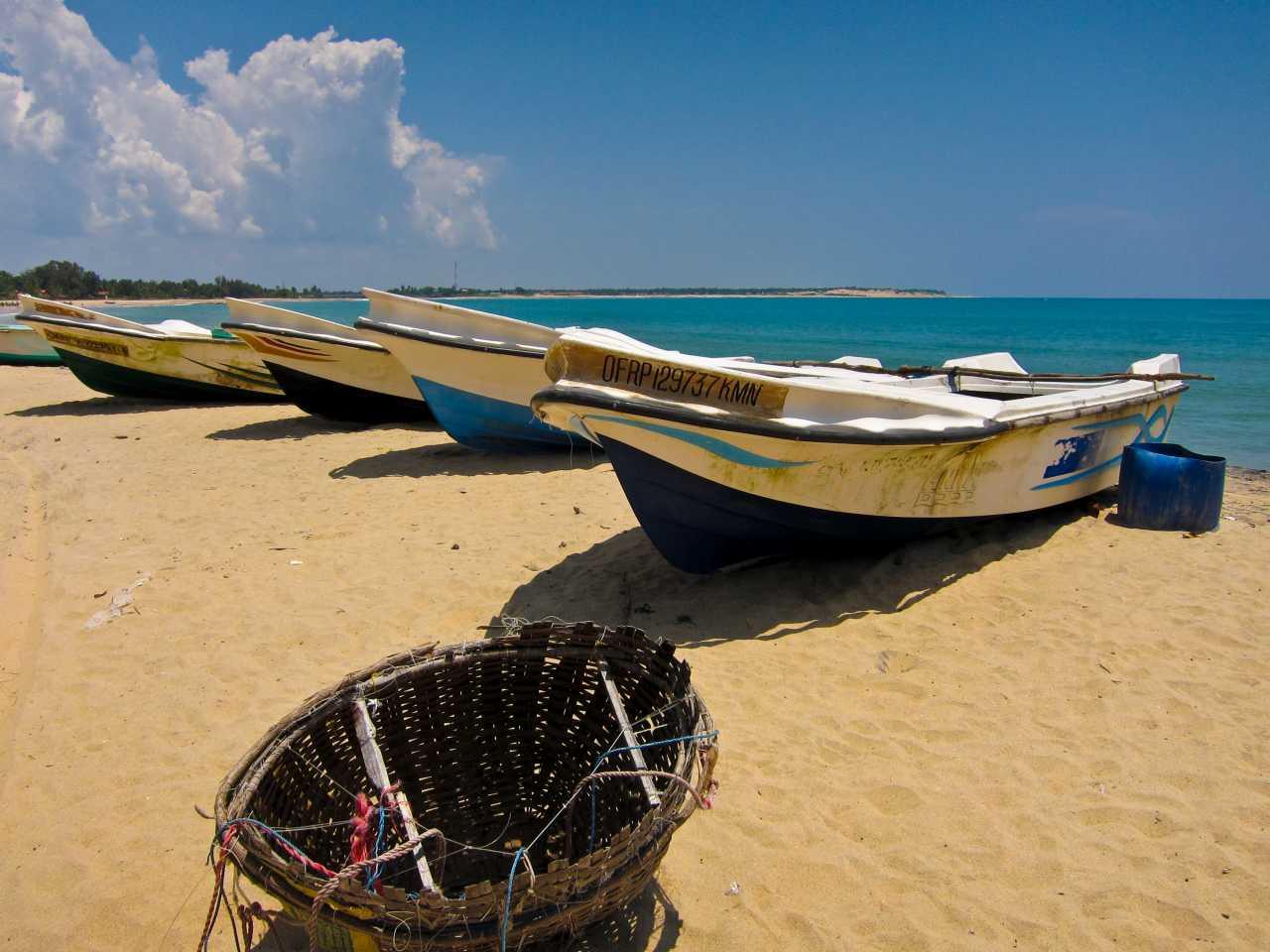 Sri Lanka road trip - Fishing Boats Passikudah
