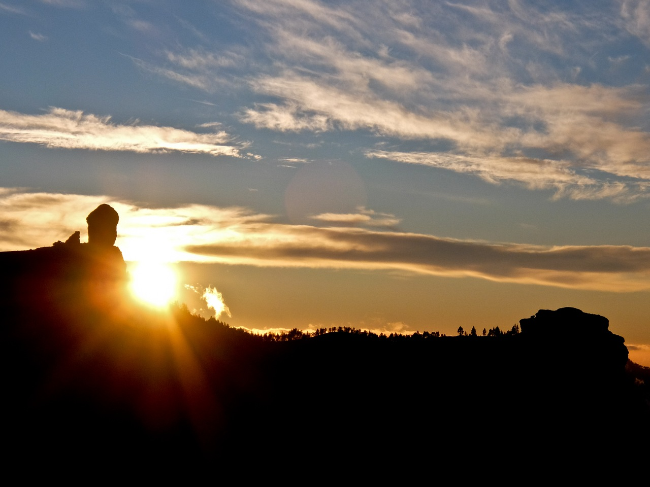 Sunset Roque Nublo