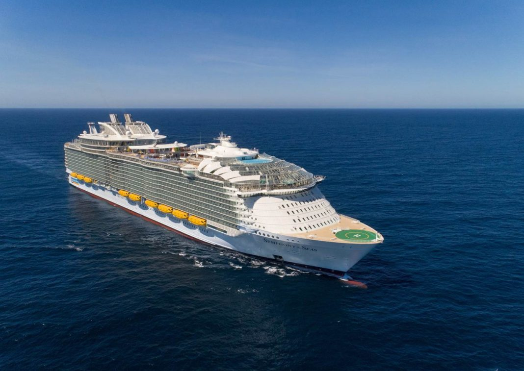 Symphony of the Seas, the world's largest cruise ship at sea