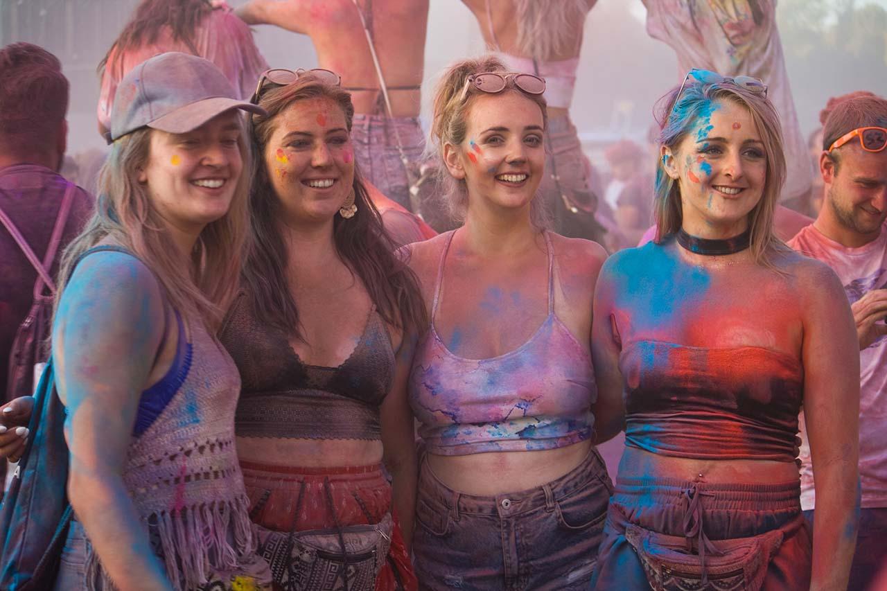 Colour Party Revellers