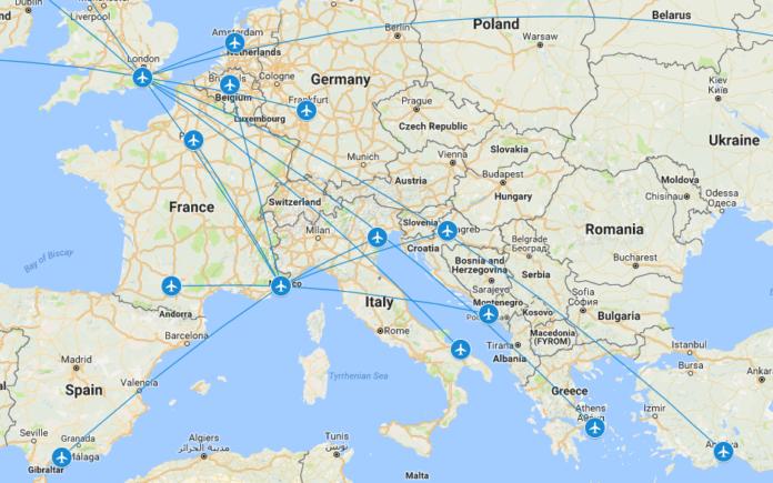 TTM Flights 2016 - Europe