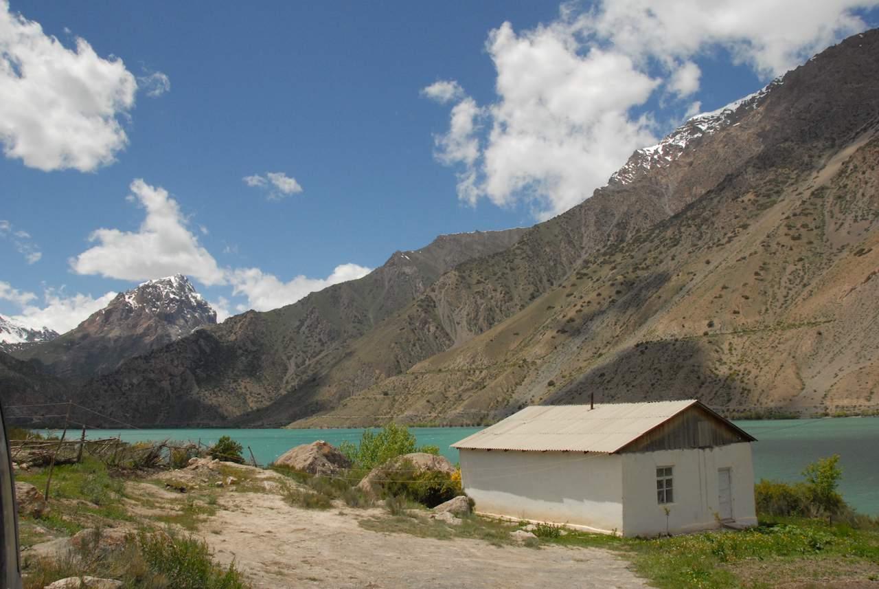 Tajikistan - house by the lake