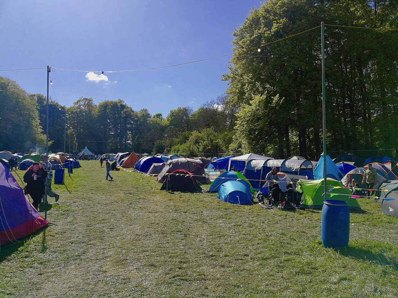 The main campsite at Teddy Rocks
