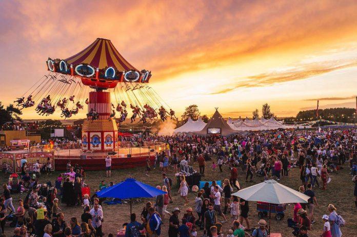 The Big Feastival Funfair Swings