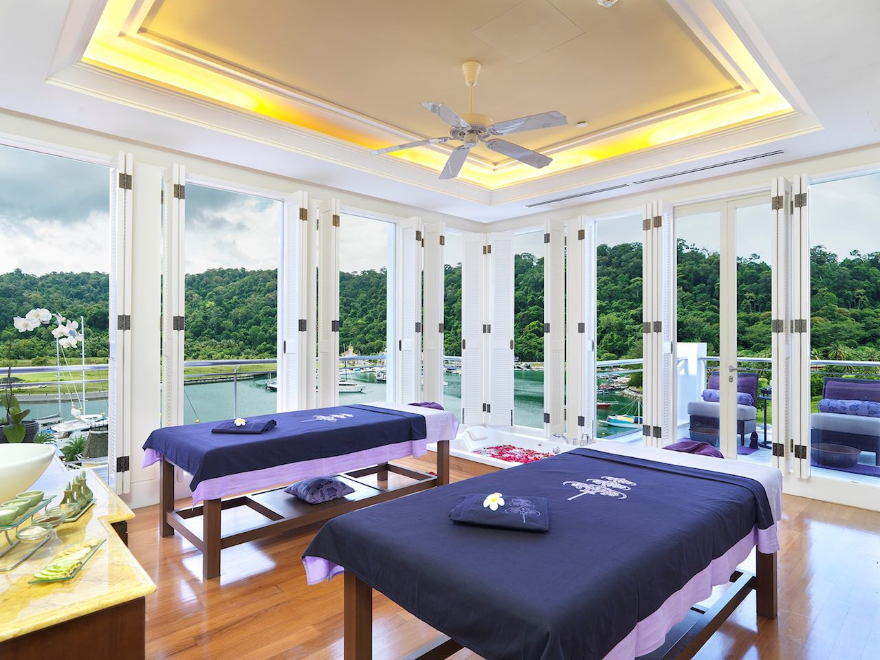 The Danna Langkawi, Malaysia - Couple room at The Danna Spa overlooking the marina