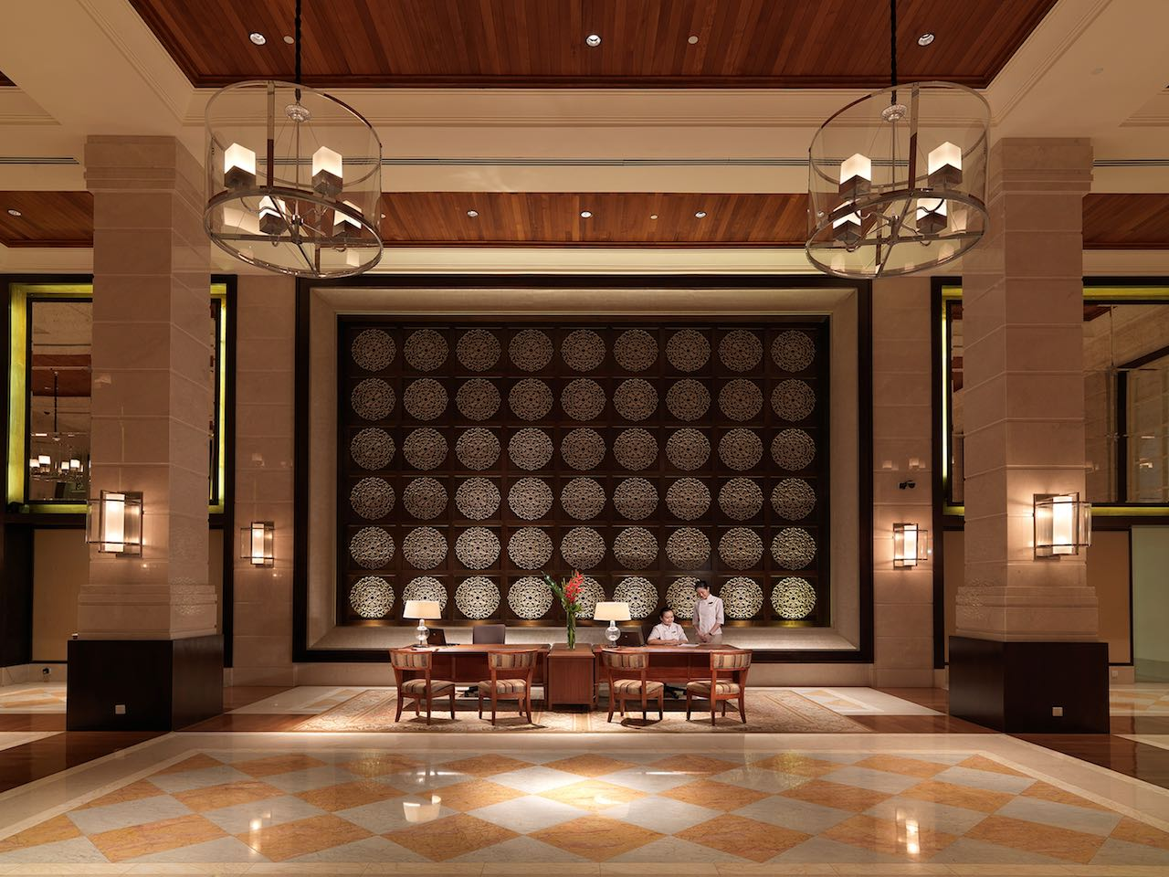 The Danna Langkawi, Malaysia - Grand lobby with high ceiling reflecting the grandeur of the bygone era