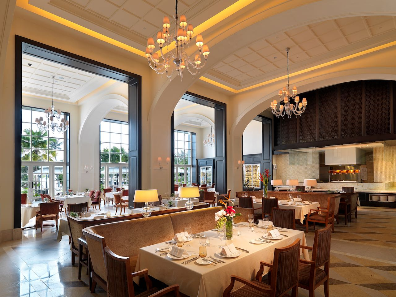 The Danna Langkawi, Malaysia - The Planter's is a fine dining serving champagne breakfast and local and European gourmet for dinner